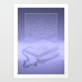 Landline Art Print