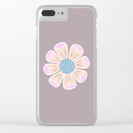 Ditsy Daisy Clear iPhone Case