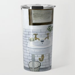 In The Bathroom Travel Mug