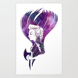 Femme Space Warrior Art Print