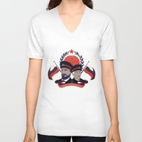 pacific rim V-neck T-shirts featuring Pacific Rim: Brave Kaidanovskys by MNM Studios