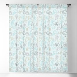 Underwater pattern Blackout Curtain
