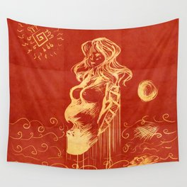 Waves Sculpting Beauty Wall Tapestry