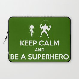 Keep Calm and Be a Superhero Laptop Sleeve