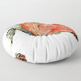 Sea Turtle, turtle art, turtle design Floor Pillow