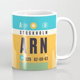 Baggage Tag A - ARN Stockholm Arlanda Sweden Coffee Mug