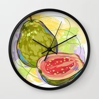 vietnam Wall Clocks featuring Vietnam Guava by Vietnam T-shirt Project