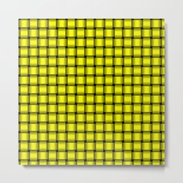 Small Yellow Weave Metal Print
