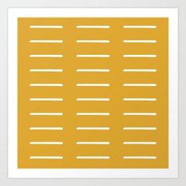 Mudcloth (Mustard Yellow) Kunstdrucke