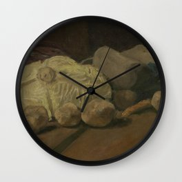 Still Life with Cabbage and Clogs Wall Clock