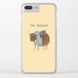 Yak Kerouac Clear iPhone Case