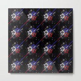 Stars and Stripes Pattern Metal Print