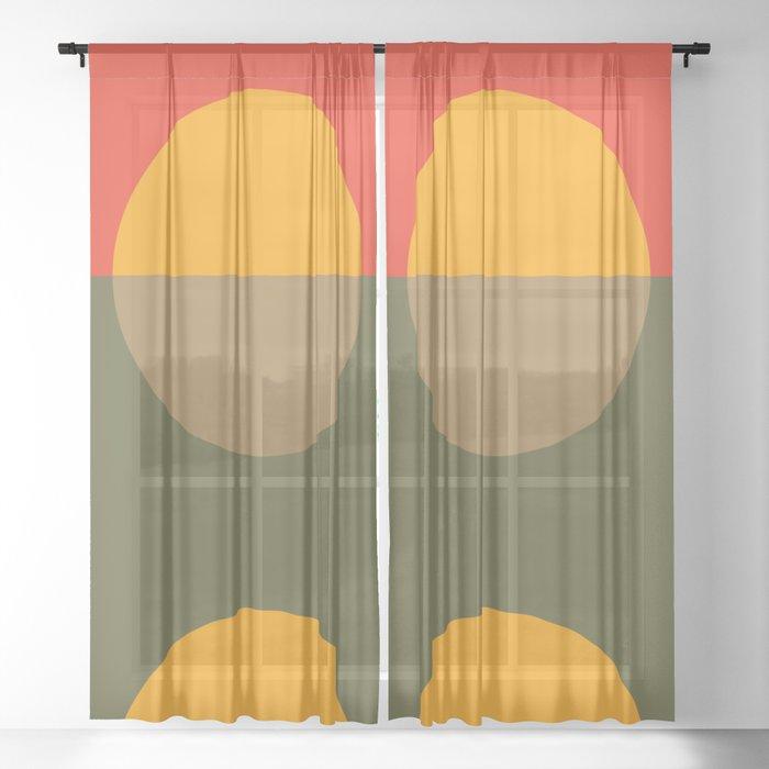 Spring- Pantone Warm color Sheer Curtain