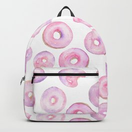 Donut Pattern | Pink, Purple Watercolor Backpack