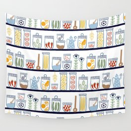 Kitchen Shelves Wall Tapestry