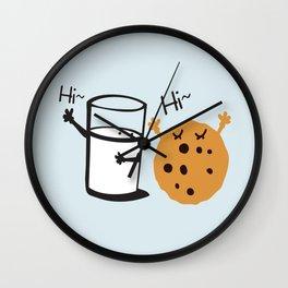 Hi Hi milk and cookie Wall Clock
