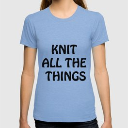 Knit All the Things in Black Transparent T-shirt