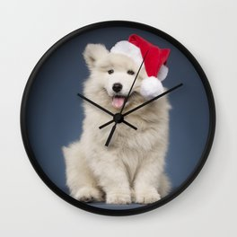 Christmas puppy Wall Clock