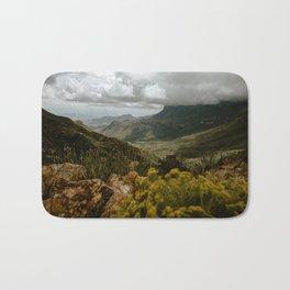 Vibrant Mountain Range Landscape, Big Bend Bath Mat