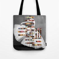 eugenia loli Tote Bags featuring Extremities by Eugenia Loli