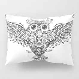 Owl Trace B&W Pillow Sham