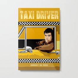Yellow Taxi driver Travis Bickle Robert De Niro iPhone 4 4s 5 5c, ipad, pillow case tshirt and mugs Metal Print