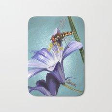 Wasp on flower 11 Bath Mat
