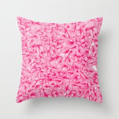 Pink Inklings Throw Pillow