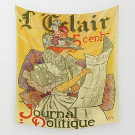 1897 French art nouveau journal advertising Wall Tapestry