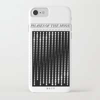 moon phase iPhone & iPod Cases featuring 2015 Moon Phase Calendar by Nick Wiinikka
