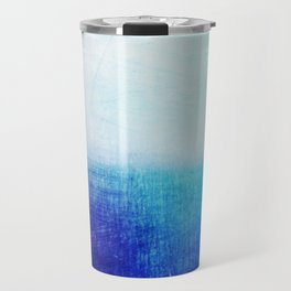 blue abstract Travel Mug