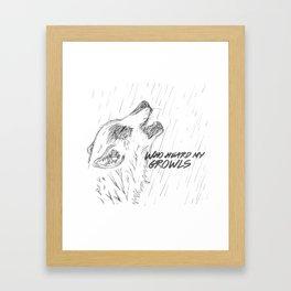 Growl Framed Art Print