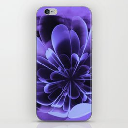 Abstract Blue Flower iPhone Skin