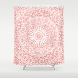 Living Coral Mandala Shower Curtain