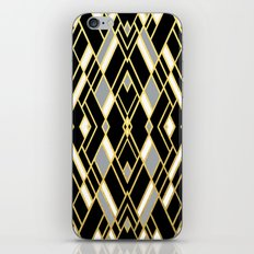 Art Deco Grey Gold iPhone & iPod Skin