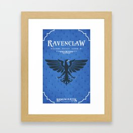 Ravenclaw House Poster Framed Art Print