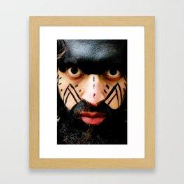 Colombian Tribal Bear Mark Of Courage by Wendy C Vega Framed Art Print