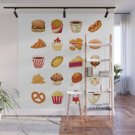 Pixel Junk Food Wall Mural
