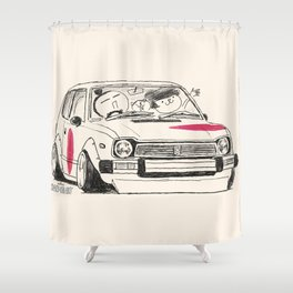 Crazy Car Art 0163 Shower Curtain