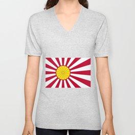 Japanese Flag And Inperial Seal Unisex V-Neck