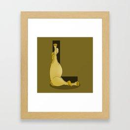 Pony Monogram Letter L Framed Art Print
