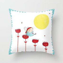Flower Fairy Throw Pillow