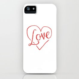 Love Heart Lettering iPhone Case