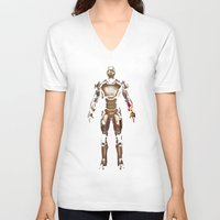 iron man V-neck T-shirts featuring Iron Man  by George Hatzis