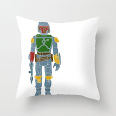 My Favorite Toy - Boba Fett Throw Pillow