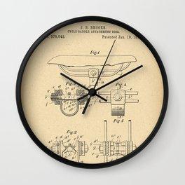 1897 Patent Bicycle saddle Wall Clock