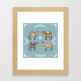Camel Beauty Contest Mandala Framed Art Print