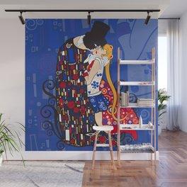 Anime Manga Sailor Moon and Klimt Inspired Moonlight Romance Wall Mural