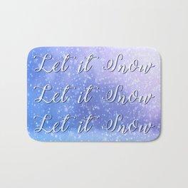 Let It Snow Bath Mat