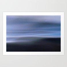 Seascape 2 Blue Art Print